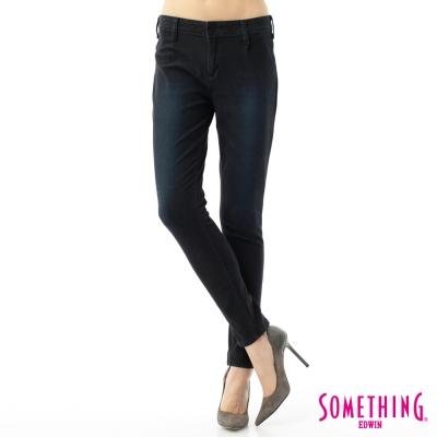 SOMETHING 小泡褲 LADIVA小泡牛仔褲-女-原藍磨