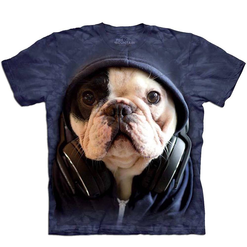 摩達客美國進口The Mountain DJ法國鬥牛犬純棉短袖T恤