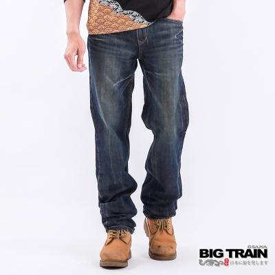 BIG TRAIN 基本款中腰直筒-深藍