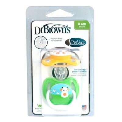 Dr Browns美國布朗博士功能性安撫奶嘴2入0-6月+奶嘴鍊1個
