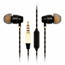 T.C.STAR 烤瓷立體聲入耳式帶麥耳機/黑色 (TCE6020BK)