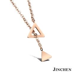 JINCHEN 白鋼三角項鍊