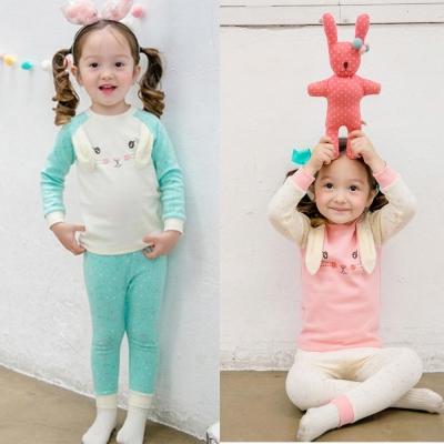 BEBEZOO 韓國 插畫兔兔星星長袖套裝2件組