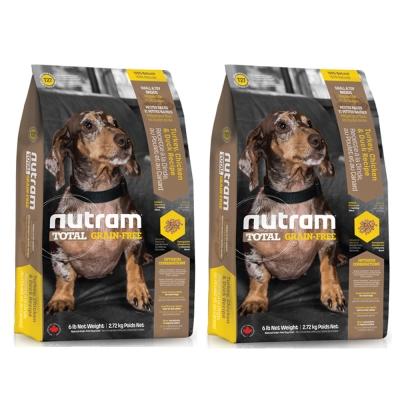 Nutram紐頓 T27無穀迷你犬 火雞配方 犬糧 2.72公斤 X 2包入