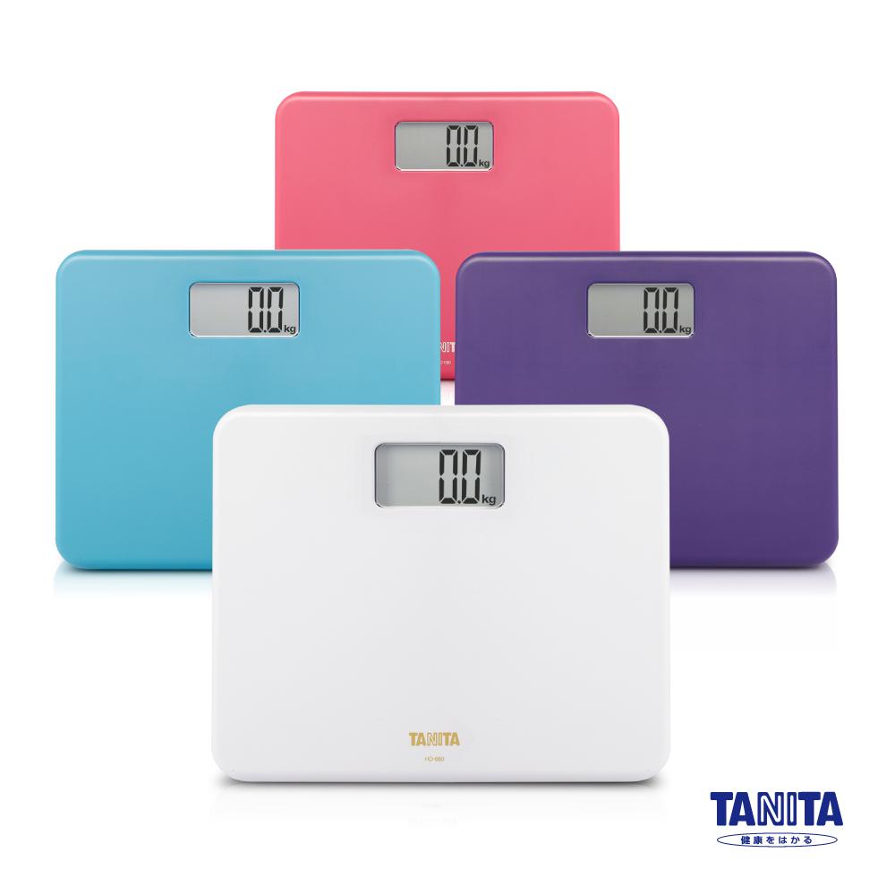日本 TANITA 粉領族迷你全自動 電子式 體重計 HD-660 (四色任選)