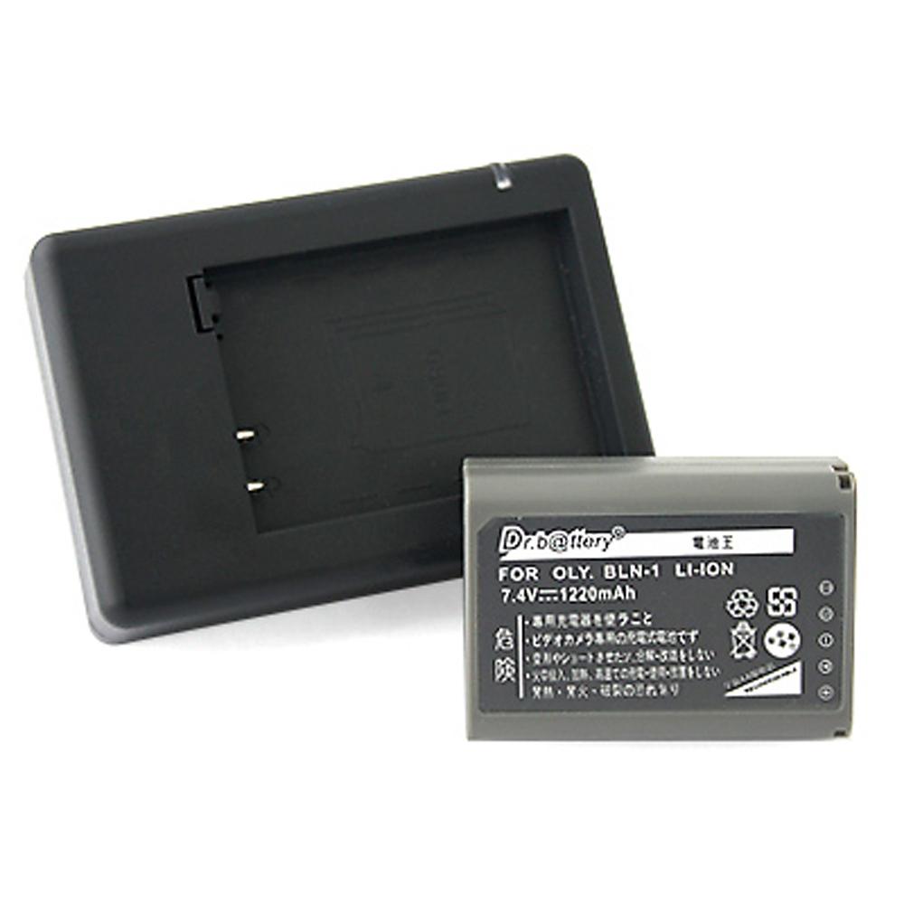電池王 For OLYMPUS BLN-1 高容量鋰電池+充電器組
