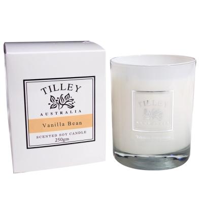 Tilley百年特莉 香草香氛大豆蠟燭240g(附防塵蓋)
