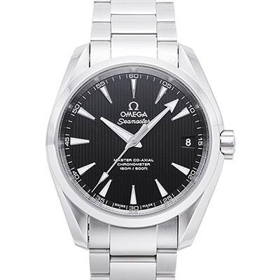 OMEGA 歐米茄 Seamaster Aqua Terra 經典黑面機械錶-38.5mm