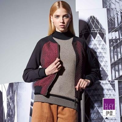 ILEY伊蕾-含羊毛高修身針織衫