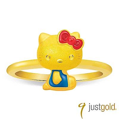鎮金店Just Gold 經典復刻版Kitty黃金戒指