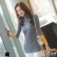 LIYO理優毛衣高領撞色針織毛衣(深灰,黑)