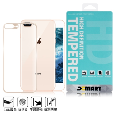 XM iPhone 8 Plus 5.5吋 強化 2.5D 背面滿版玻璃保護貼