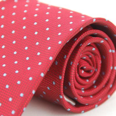 Alpaca 紅底灰點領帶