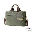 satana - 極簡主義公事包/筆電包 - 墨綠色