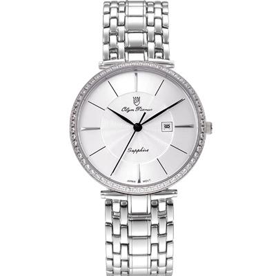 Olym Pianus 奧柏錶  復古優雅石英腕錶-銀/36mm