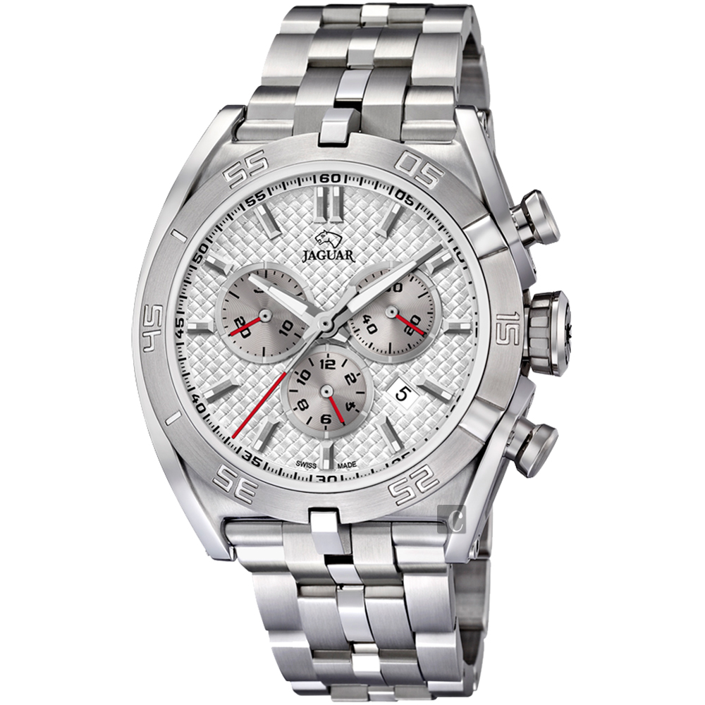 JAGUAR積架 EXECUTIVE 極速計時手錶-銀/45.8mm