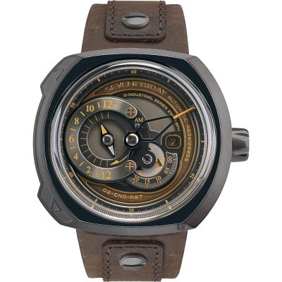 (無卡分期12期)SEVENFRIDAY Q2-3 火車鐵道設計日期顯示機械錶-44x50mm