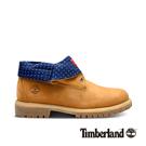 Timberland 男款小麥黃繡紋印花中筒反折靴