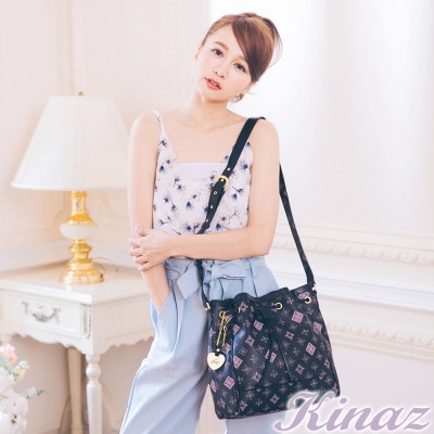 KINAZ-Classic-收藏經典系列-傳奇愛情水桶包-宣言黑粉
