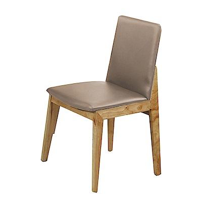 品家居 朵若拉皮革實木餐椅(六色可選)-46x41x83cm免組