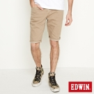 EDWIN 503基本五袋休閒短褲-男-灰卡其