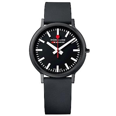 MONDAINE 瑞士國鐵stop2go經典腕錶-40mm/黑