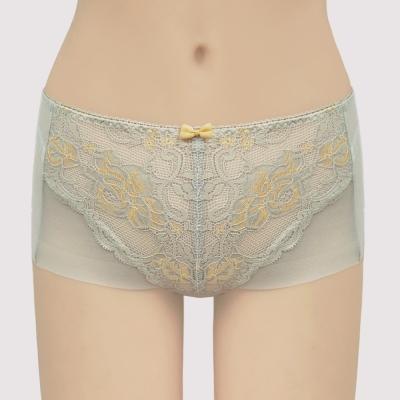 曼黛瑪璉  包覆提托雙弧  低腰平口無痕內褲(璀璨灰)