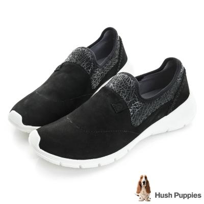 Hush Puppies EIREEN 輕量直套式健走鞋-黑色