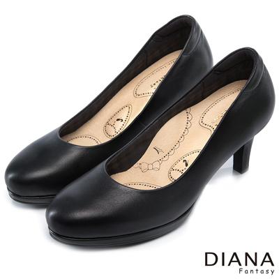 DIANA 漫步雲端布朗尼I款--輕彈舒適OL制鞋-黑