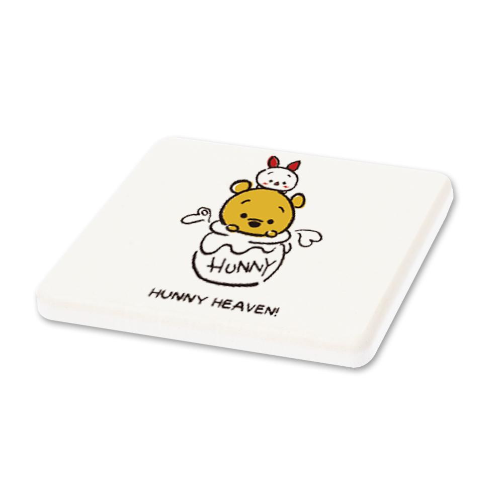 Tsum Tsum迪士尼珪藻土杯墊/皂盤-維尼小豬甜蜜蜜