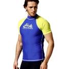 泳裝 水母衣 粉藍粉綠短袖半身水母衣 聖手牌