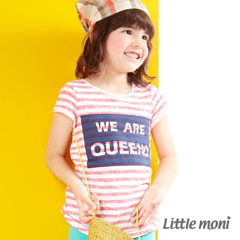 Little moni 時尚女王造型棉T 淺珊瑚