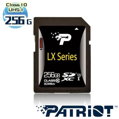 Patriot美商博帝 LX Series C10 UHS-I SDXC 256GB記憶卡