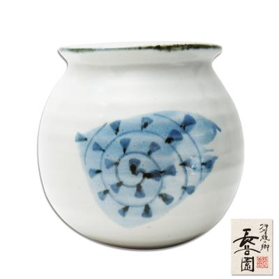 日本長谷園伊賀燒 陶罐(螺紋款)