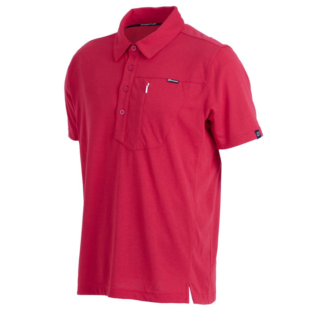 【Berghaus 貝豪斯】男款銀離子POLO衫S14M01-紅