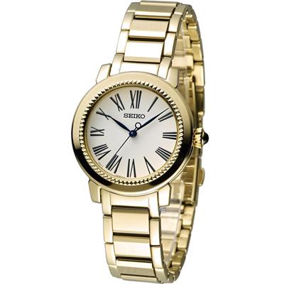 SEIKO 小資完美時尚腕錶(7N01-0HS0K)金色/30mm