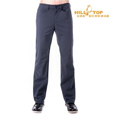【hilltop山頂鳥】男款WS防風防小雨保暖長褲H31MK1深灰