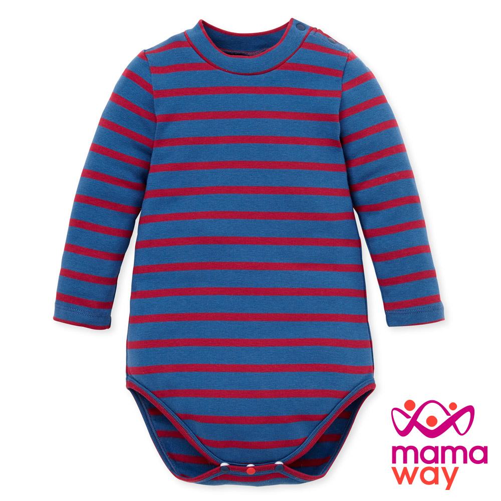 Mamaway Baby橫紋小高領包屁衣(共四色)
