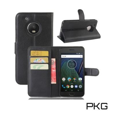 PKG MOTO G5 PLUS皮套側翻式皮套經典皮革系列-黑色