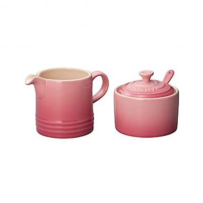 LE CREUSET 瓷器牛奶杯&糖罐組(薔薇粉)