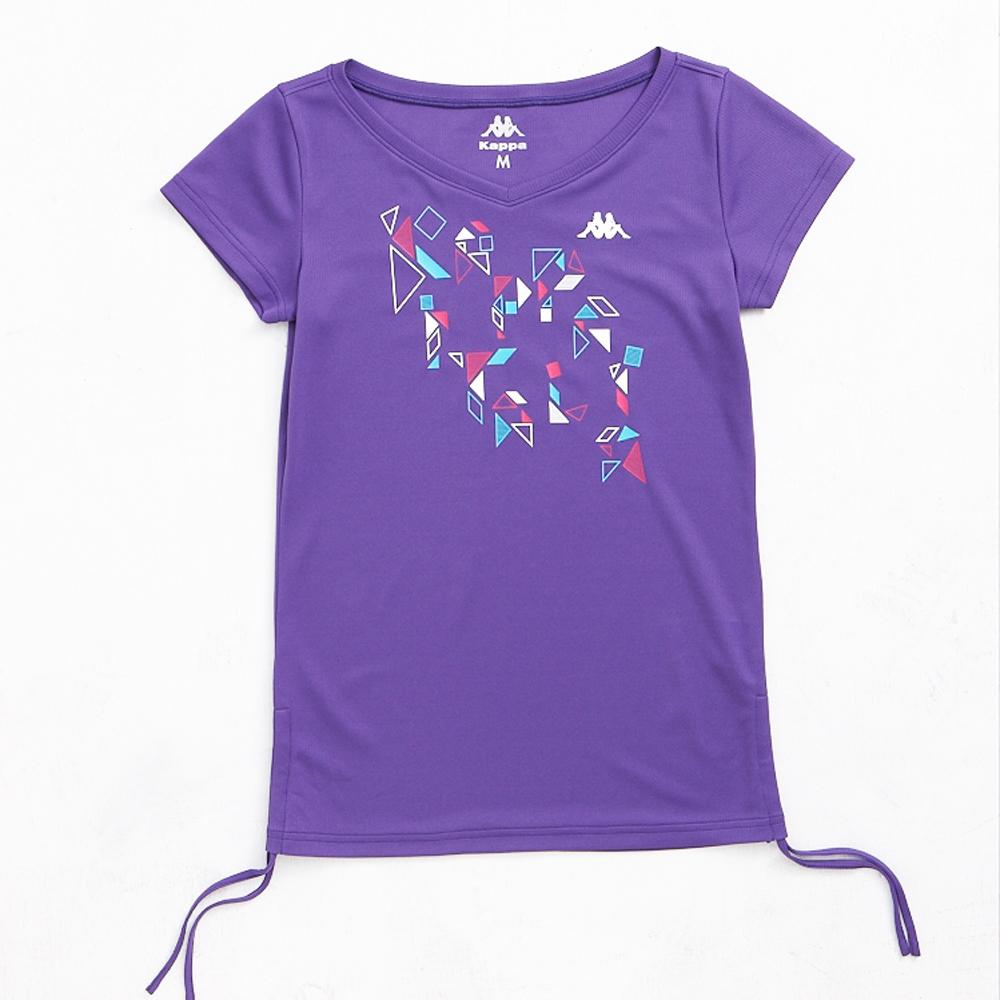 KAPPA義大利舒適時尚女吸濕排汗色衫-羅蘭紫