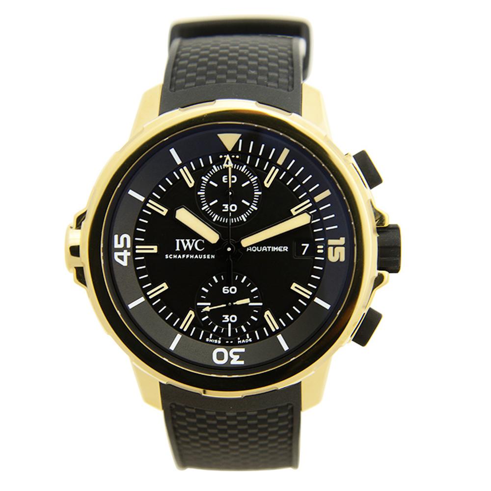 IWC 萬國錶 海洋時計計時黑面青銅橡膠腕錶(IW379503)-44mm