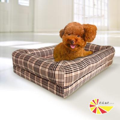 凱蕾絲帝 狂銷熱賣-寵物記憶床墊款(英倫格紋) 60 * 40 -中小型寵物專用