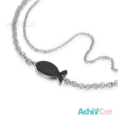 AchiCat 珠寶白鋼手鍊 幸福時刻 小魚