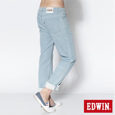 EDWIN-大尺碼503-COOL-RELAX中直筒褲-男款-重漂藍