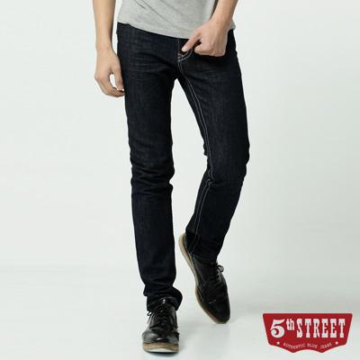 5th STREET 1965純棉窄直筒牛仔褲-男-原藍色