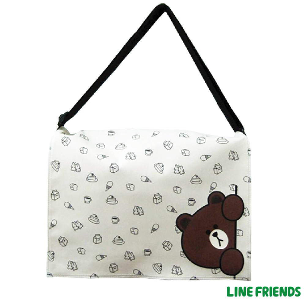 LINE FRIENDS  側背包(大)LI5418_米