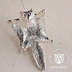 Marship 日本銀飾品牌 優雅滑行的飛鼠耳環 925純銀 亮銀款 針式耳環