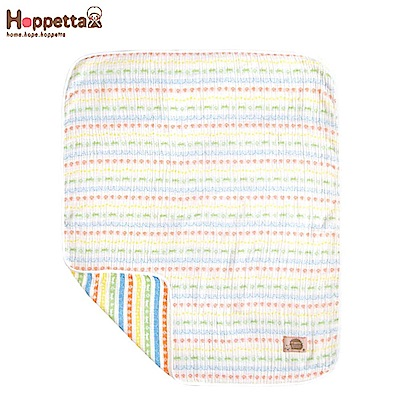 日本 Hoppetta 彩虹蘑菇四層紗被