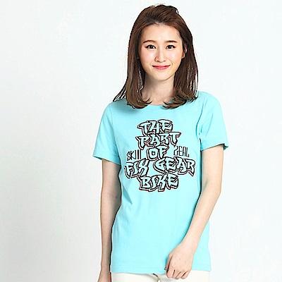 101原創 super bike T恤上衣-蒂芬妮藍
